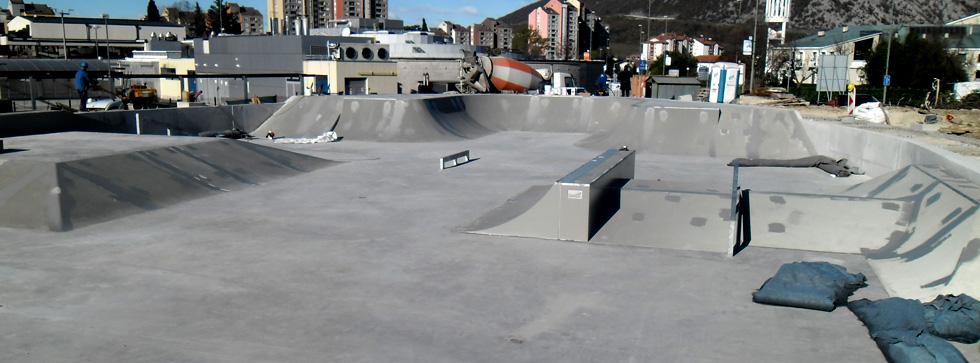 Slovenski skateri su dobili prvi betonski Real Line skate park.